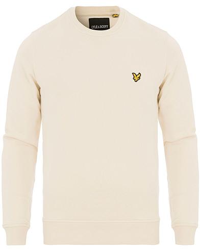 Lyle & Scott Crew Neck Sweatshirt Seashell White i gruppen Kläder / Tröjor / Sweatshirts hos Care of Carl (14843311r)
