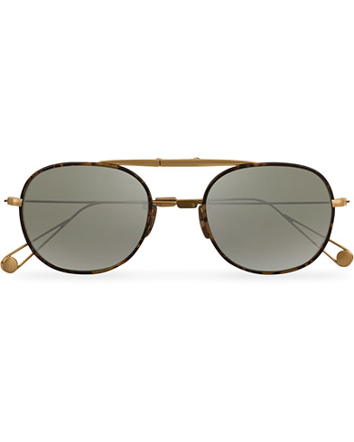 Garrett Leight Van Buren W 49 Sunglasses Tortoise/Antique Gold/Silver  i gruppen Accessoarer / Solglasögon / Runda solglasögon hos Care of Carl (14860210)