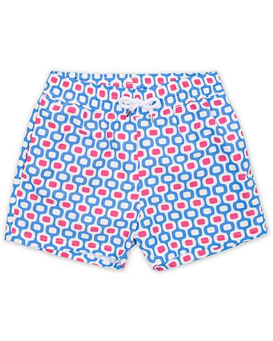 Frescobol Carioca Short Swimshorts Ipanema Blue/Pink i gruppen Klær / Badeshorts hos Care of Carl (14871611r)