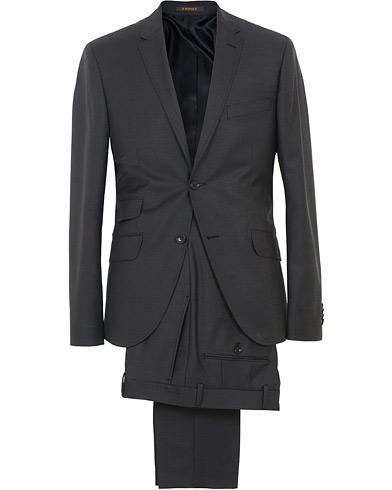 Morris Charles Wool Suit Dark Grey i gruppen Kläder / Kostymer / Tvådelade kostymer hos Care of Carl (14874411r)