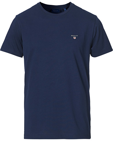 GANT The Original Solid Tee Evening Blue i gruppen Klær / T-Shirts / Kortermede t-shirts hos Care of Carl (14879011r)