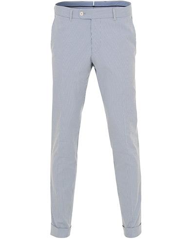 Morris Heritage Fred Dandy Stripe Suit Trousers Light Blue i gruppen Kläder / Byxor / Kostymbyxor hos Care of Carl (14879511r)