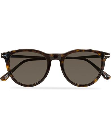 Tom Ford Kellan FT0626 Sunglasses Dark Havana/Smoke  i gruppen Assesoarer / Solbriller / Runde solbriller hos Care of Carl (14881610)