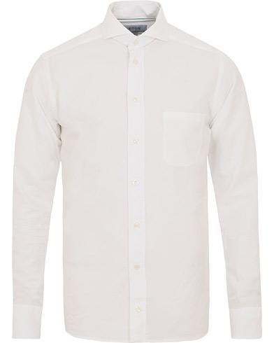Eton Slim Fit Cotton/Silk Shirt White i gruppen Klær / Skjorter / Casual skjorter hos Care of Carl (14885411r)