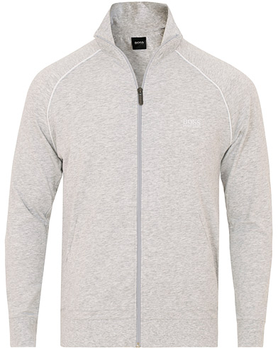 BOSS Loungewear Full Zip Jacket Grey i gruppen Klær / Gensere / Zip-gensere hos Care of Carl (14889311r)