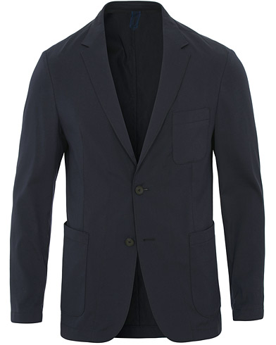 BOSS Noswen Cotton Stretch Tailoring Blazer Navy i gruppen Klær / Dressjakker / Enkeltspente dressjakker hos Care of Carl (14890111r)