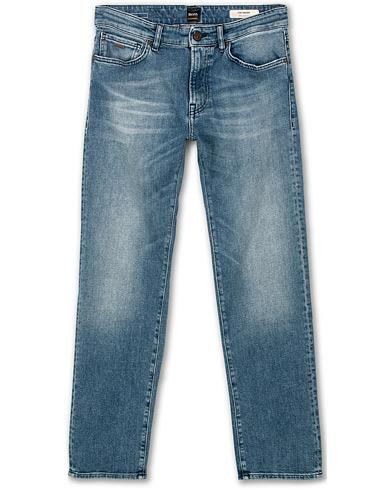 BOSS Casual Maine Regular Fit Stretch Jeans Bright Blue i gruppen Klær / Jeans hos Care of Carl (14890911r)