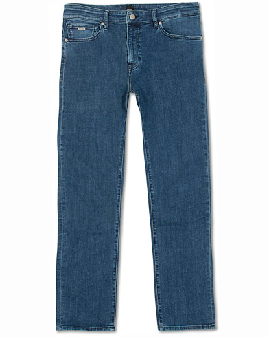 BOSS Casual Maine Regular Fit Super Stretch Jeans Lagoon Blue i gruppen Tøj / Jeans hos Care of Carl (14891311r)