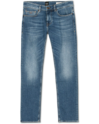 BOSS Casual Delaware Slim Fit Stretch Jeans Aqua Blue i gruppen Klær / Jeans hos Care of Carl (14892511r)