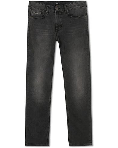 BOSS Casual Delaware Slim Fit Stretch Jeans Washed Black i gruppen Klær / Jeans hos Care of Carl (14892911r)