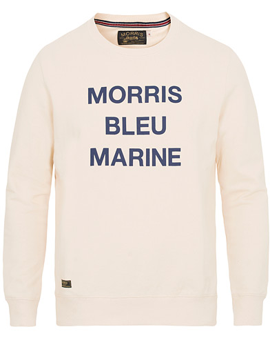 Morris Bleu Crew Neck Sweatshirt Off White i gruppen Kläder / Tröjor / Sweatshirts hos Care of Carl (14895311r)