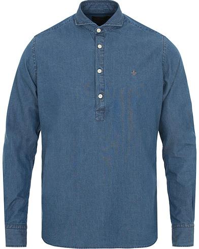 Morris Bussarong Denim Popover Shirt Blue i gruppen Kläder / Skjortor / Casual skjortor hos Care of Carl (14895911r)