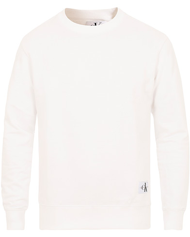 Calvin Klein Jeans Monogram Chest Logo Crew Neck Sweatshirt Bright White i gruppen Kläder / Tröjor / Sweatshirts hos Care of Carl (14900011r)