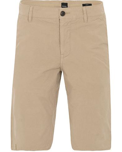 BOSS Casual Chino Slim Fit Shorts Khaki i gruppen Tøj / Shorts / Chino shorts hos Care of Carl (14909011r)