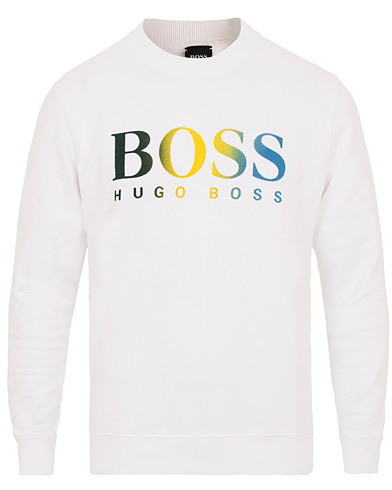 BOSS Casual Wailes Logo Crew Neck Sweatshirt White i gruppen Kläder / Tröjor / Sweatshirts hos Care of Carl (14909711r)