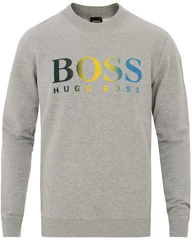 BOSS Casual Wailes Logo Crew Neck Sweatshirt Grey Melange i gruppen Kläder / Tröjor / Sweatshirts hos Care of Carl (14909811r)