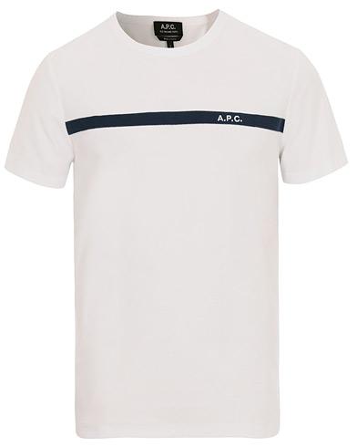 A.P.C Logo Crew Neck Tee White i gruppen Tøj / T-Shirts / Kortærmede t-shirts hos Care of Carl (14915311r)