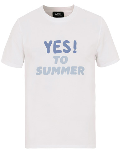 A.P.C Yes To Summer Crew Neck Tee White i gruppen Klær / T-Shirts / Kortermede t-shirts hos Care of Carl (14915611r)