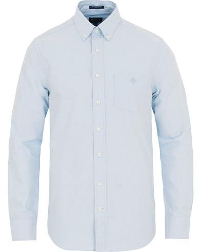 GANT Button Down Oxford Beacons Project Shirt Capri Blue i gruppen Klær / Skjorter / Oxfordskjorter hos Care of Carl (14918511r)