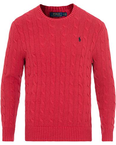 Polo Ralph Lauren Cotton Cable Crew Neck Red i gruppen Kläder / Tröjor / Stickade tröjor hos Care of Carl (14927011r)