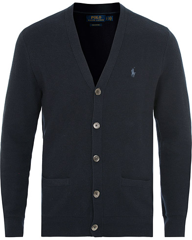 Polo Ralph Lauren Textured Cardigan Navy i gruppen Tøj / Trøjer / Cardigans hos Care of Carl (14927611r)