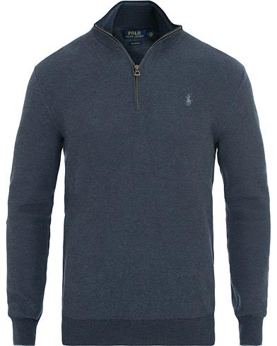 Polo Ralph Lauren Textured Half Zip Navy i gruppen Klær / Gensere / Zip-gensere hos Care of Carl (14927811r)