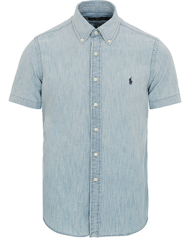 Polo Ralph Lauren Core Fit Chambray Short Sleeve Shirt Blue i gruppen Klær / Skjorter / Kortermede skjorter hos Care of Carl (14928611r)