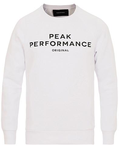 Peak Performance M Logo Crew Neck Sweatshirt White i gruppen Kläder / Tröjor / Sweatshirts hos Care of Carl (14935811r)