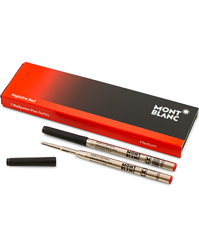 Montblanc 2 Ballpoint Pen Refill  Nightfire Red  i gruppen Tilbehør / Penne & notesbøger hos Care of Carl (14960810)