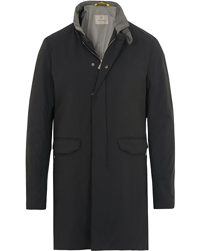 Canali Nylon Stretch Coat Black i gruppen Kläder / Jackor / Rockar hos Care of Carl (14971511r)