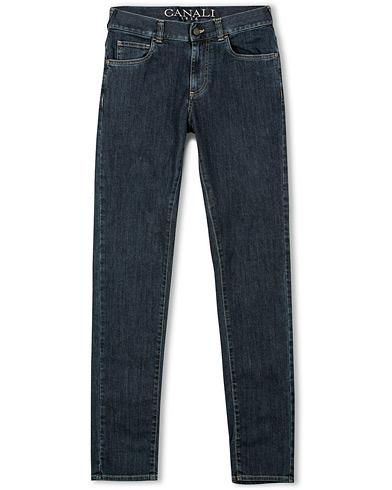 Canali Sharp Slim Fit Jeans Medium Blue i gruppen Kläder / Jeans / Smala jeans hos Care of Carl (14973111r)