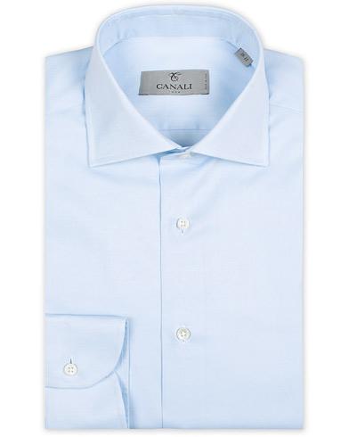 Canali Slim Fit Cotton Cut Away Shirt Light Blue i gruppen Klær / Skjorter / Formelle / Formelle skjorter hos Care of Carl (14973211r)