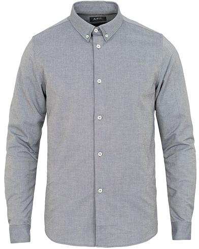 A.P.C Button Down Oxford Shirt Dark Navy i gruppen Klær / Skjorter / Casual / Casual skjorter hos Care of Carl (14974611r)