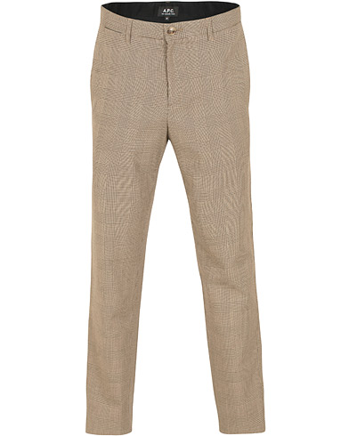 A.P.C Chino Lift Check Trousers Beige Fonce i gruppen Klær / Bukser / Dressbukser hos Care of Carl (14975511r)