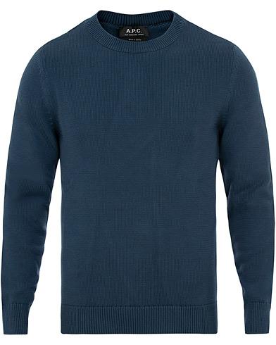 A.P.C Michel Knitted Sweater Bleu Acier i gruppen Klær / Gensere / Strikkede gensere hos Care of Carl (14975711r)