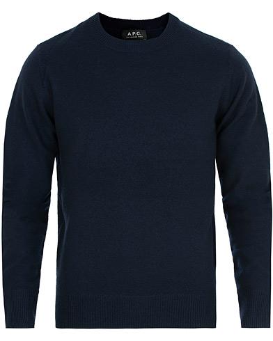 A.P.C Han Sweater Marine i gruppen Kläder / Tröjor / Stickade tröjor hos Care of Carl (14976011r)