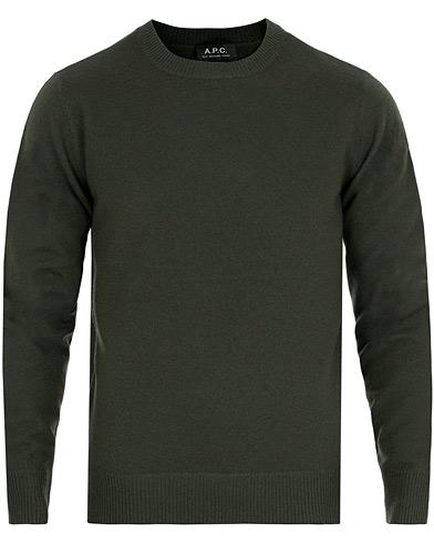 A.P.C Han Sweater Vert Sapine i gruppen Kläder / Tröjor / Stickade tröjor hos Care of Carl (14976111r)