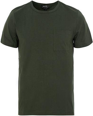 A.P.C Jess T-shirts Vert Fonce i gruppen Kläder / T-Shirts / Kortärmade t-shirts hos Care of Carl (14977611r)