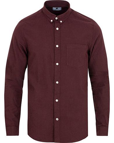 NN07 Sixten 5722 Flannel Shirt Oxblood i gruppen Kläder / Skjortor / Flanellskjortor hos Care of Carl (14990311r)