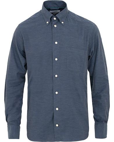 Eton Contemporary Fit Flannel Button Down Shirt Blue i gruppen Kläder / Skjortor / Casual / Flanellskjortor hos Care of Carl (15009011r)