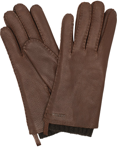 Hestra Tony Wool Lined Deerskin Glove Chocolate i gruppen Assesoarer / Hansker hos Care of Carl (15014911r)