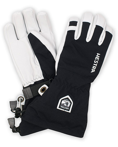 Hestra Army Leather Heli Ski Glove Black/White i gruppen Accessoarer / Handskar hos Care of Carl (15015511r)