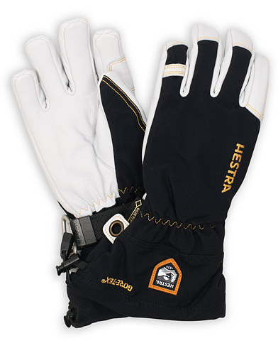 Hestra Army Leather GORE-TEX® Glove Black/White i gruppen Tilbehør / Handsker hos Care of Carl (15015711r)