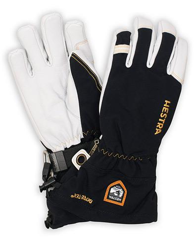 Hestra Army Leather GORE-TEX® Glove Black/White i gruppen Assesoarer / Hansker hos Care of Carl (15015711r)
