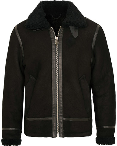 rag & bone Flight Shearling Jacket Black i gruppen Klær / Jakker / Skinnjakker hos Care of Carl (15043511r)