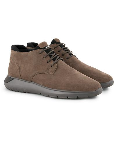 Hogan Polacco High Sneaker  Brown Suede i gruppen Sko / Sneakers hos Care of Carl (15047111r)
