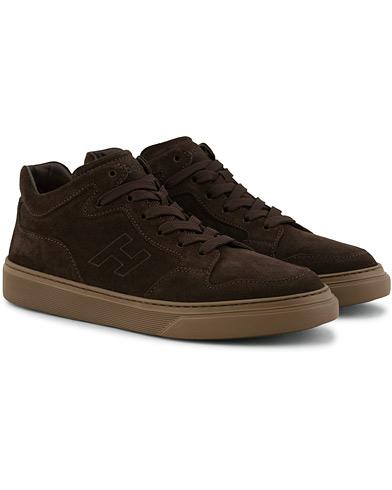 Hogan Classic High Top Sneaker  Dark Brown Suede i gruppen Sko / Sneakers hos Care of Carl (15047611r)