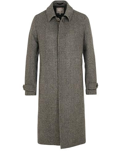 Private White V.C. Wool/Cashmere Prince of Wales Topcoat Light Grey i gruppen Kläder / Jackor / Rockar hos Care of Carl (15048511r)