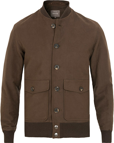 Private White V.C. Moleskin Bomber Jacket Brown i gruppen Klær / Jakker / Bomberjakker hos Care of Carl (15049011r)