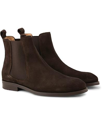 Morris Chelsea Suede Boot Brown i gruppen Skor / Kängor / Chelsea boots hos Care of Carl (15054411r)